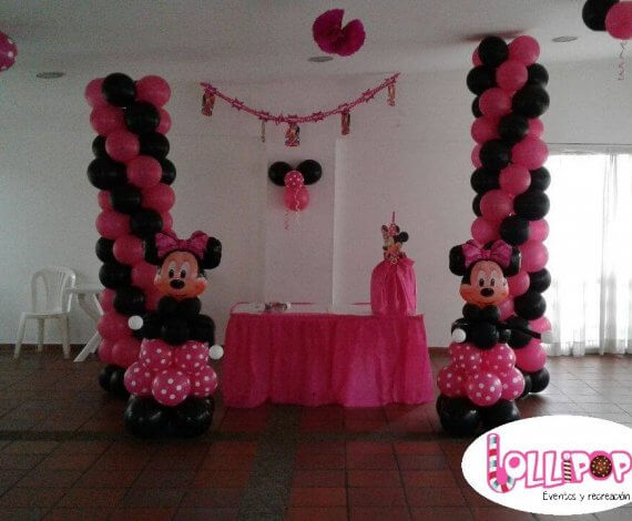Decoración basica Minnie Mouse