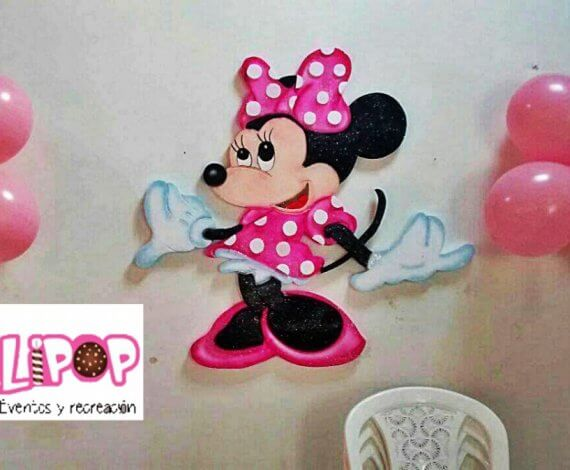Aplique en icopor  (Minnie)