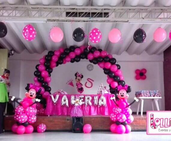 Decoración Minnie Mouse- plan esmeralda