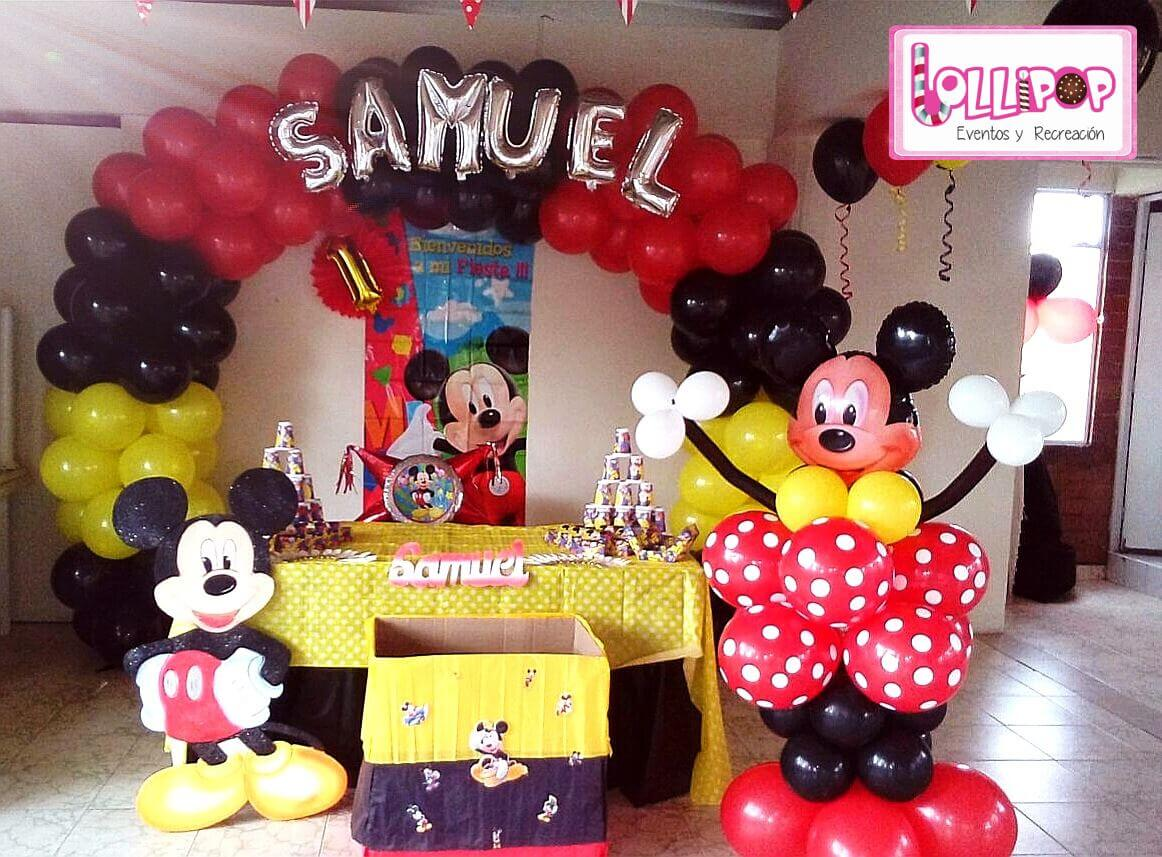 Decoraci n mickey mouse plan esmeralda lollipop recreaci n - Decoracion para fiestas infantiles mickey mouse ...