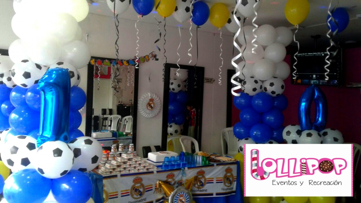 Decoraci n real madrid lollipop recreaci n - Decoracion madrid ...