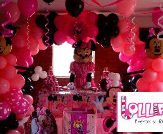 Decoración y personaje Minnie Mouse