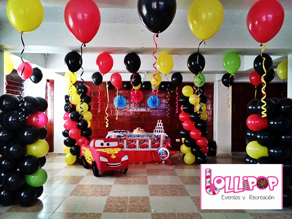 Decoraci n cars lollipop recreaci n - Decoracion de cars para fiestas infantiles ...