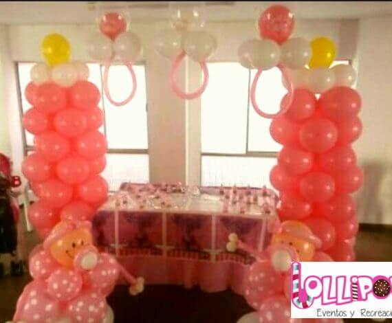 Decoración globos baby shower