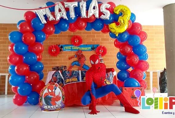 Decoración con Spiderman