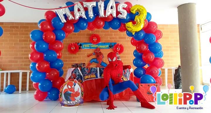 Decoración Con Spiderman Lollipop Recreación