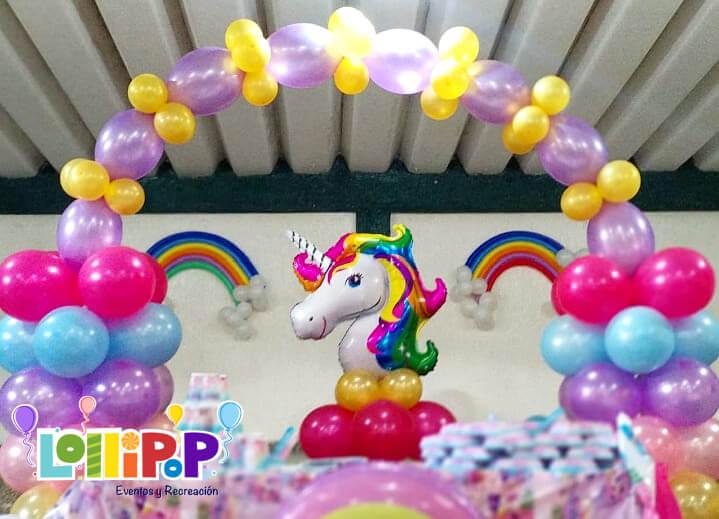 Unicornio En Globo Lollipop Recreación