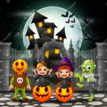 plan purpu halloween